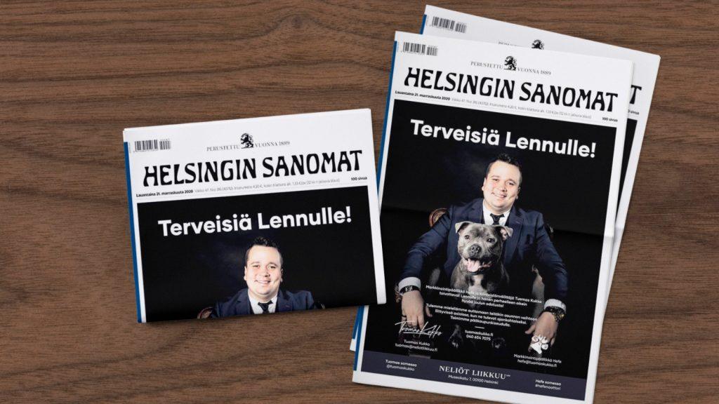 Helsingin Sanomat kansikuva Tuomas Kukko