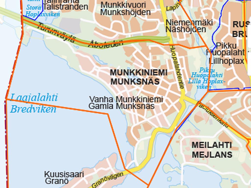 Munkkiniemen kartta Tuomas Kukko